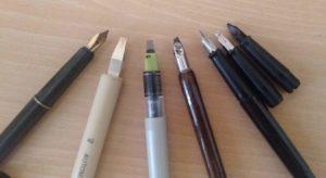 plumes pour la calligraphie