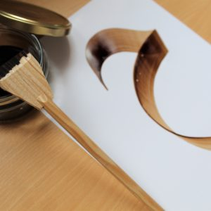 calame en bois calligraphie arabe
